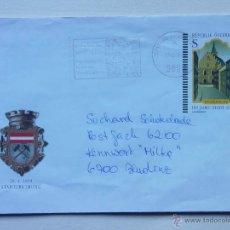 Sellos: AUSTRIA - OSTERREICH - 1999 - SOBRE PREFRANQUEADO IGLESIA CIUDAD SCHWAZ - STADTERHEBUNG.. Lote 40620356