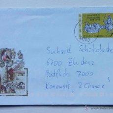 Sellos: AUSTRIA - ÖSTERREICH - 1998 - SOBRE PREFRANQUEADO SANTO PANKRATIUS RANSHOFEN (898-1998). Lote 40620418