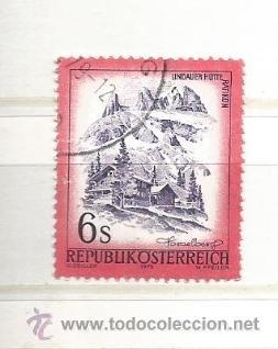 AUSTRIA 1975. PAISAJES,LINDAUER HÜTTE IM RÄTIKON, VORARLBERG (Sellos - Extranjero - Europa - Austria)