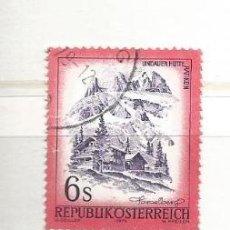 Francobolli: AUSTRIA 1975. PAISAJES,LINDAUER HÜTTE IM RÄTIKON, VORARLBERG. Lote 261535420