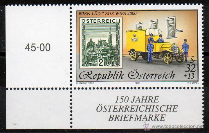 AUSTRIA AÑO 1998 YV 2099*** EXPOSICIÓN INTERNACIONAL DE FILATELIA WIPA 2000 (II) - SELLO SOBRE SELLO (Sellos - Extranjero - Europa - Austria)