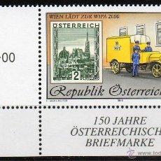 Sellos: AUSTRIA AÑO 1998 YV 2099*** EXPOSICIÓN INTERNACIONAL DE FILATELIA WIPA 2000 (II) - SELLO SOBRE SELLO. Lote 43587999