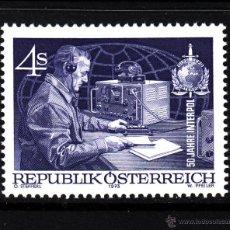 Sellos: AUSTRIA 1256** - AÑO 1973 - 50º ANIVERSARIO DE INTERPOL. Lote 228368242