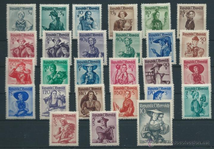 AUSTRIA YVERT Nº 738A/54A * (Sellos - Extranjero - Europa - Austria)