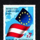 Sellos: AUSTRIA 1974** - AÑO 1995 - ADHESIÓN A LA UNIÓN EUROPEA. Lote 160646420