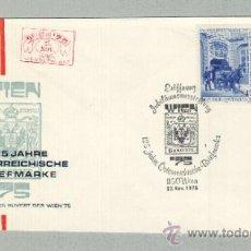Sellos: TAG DER BRIEFMARKE 1974, WIEN 75 125 JAHRE ÖSTERRICHISCHE BRIEFMARKE /CARRUAJES CABALLOS. Lote 45669811