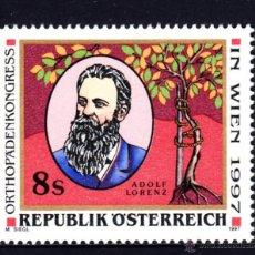 Sellos: AUSTRIA 2059** - AÑO 1997 - CONGRESO DE ORTOPEDIA, VIENA - DOCTOR ADOLF LORENZ. Lote 228368296