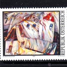 Sellos: AUSTRIA 2062** - AÑO 1997 - ARTE MODERNO EN AUSTRIA - PINTURA - OBRA DE HELMUT SCHICKHOFER. Lote 228368380