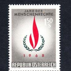 Sellos: AUSTRIA 1101** - AÑO 1968 - AÑO INTERNACIONAL DE LOS DERECHOS HUMANOS. Lote 228368442