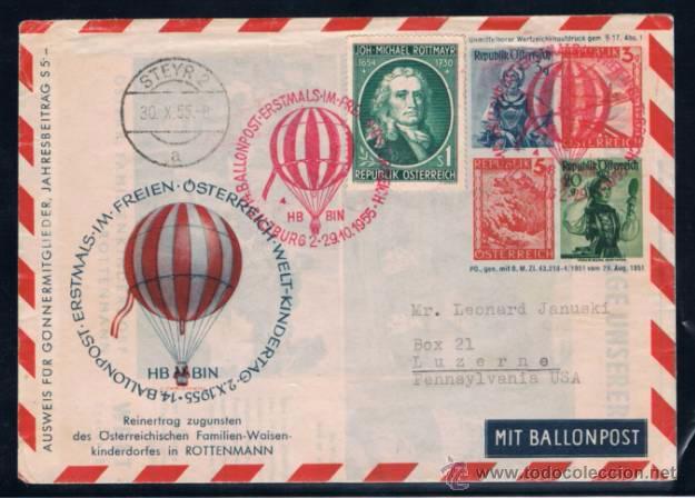 1955 AUSTRIA. TEMA GLOBO (Sellos - Extranjero - Europa - Austria)
