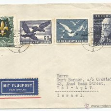 Sellos: 1952 - CARTA AÉREA DIRIGIDA A TEL-AVIV - AUSTRIA. Lote 50661863