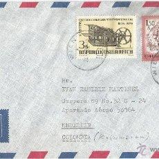 Sellos: 1980 - SOBRE DEL CORREO AÉREO CON DESTINO MEDELLIN - AUSTRIA. Lote 50662069