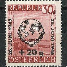 Sellos: AUSTRIA - 1946 - MICHEL 771 // SCOTT B166** MNH. Lote 104286899