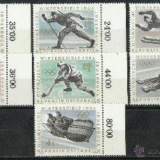 Sellos: AUSTRIA - 1963 - MICHEL 1136/1142** MNH (DEPORTES/OLIMPIADAS). Lote 222443300