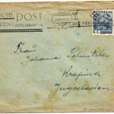 Sellos: AUSTRIA 1938 HISTORIA POSTAL. Lote 52296477