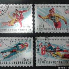 Sellos: SELLOS DE AUSTRIA. DEPORTES. YVERT 1328/31. SERIE COMPLETA USADA.. Lote 53024212