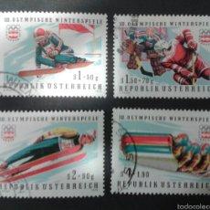 Sellos: SELLOS DE AUSTRIA. DEPORTES.. YVERT 1308/11. SERIE COMPLETA USADA.. Lote 53024216