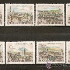 Sellos: AUSTRIA YVERT NUM. 1001/1008 ** SERIE COMPLETA SIN FIJASELLOS. Lote 235881470