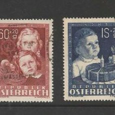 Sellos: AUSTRIA 1949 - MICHEL 929-932 CHILD STAMP SET CANCELLED VERY FINE. Lote 53537378
