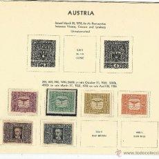 Sellos: AUSTRIA 1922-24 CORREO AEREO SERIE CORTA DEL CORREO AUSTRIACO. Lote 54416495