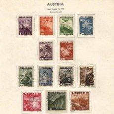 Sellos: AUSTRIA 1935 CORREO AEREO Y AVIONES Y PAISAJES . Lote 54416635