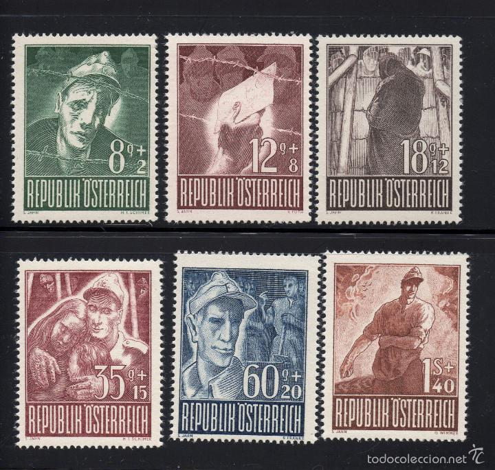 AUSTRIA 687/92** - AÑO 1947 - SEGUNDA GUERRA MUNDIAL - PRO PRISIONEROS DE GUERRA (Sellos - Extranjero - Europa - Austria)
