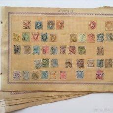 Sellos: ANTIGUA COLECCION SELLOS DE AUSTRIA, (LOTE CON 13 FOLIOS, VER FOTOS). Lote 57957034