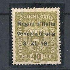 Sellos: VENECIA GIULIA 1919. SELLO DE AUSTRIA DE 1916-18 CON SOBRECARGA. Lote 58391607