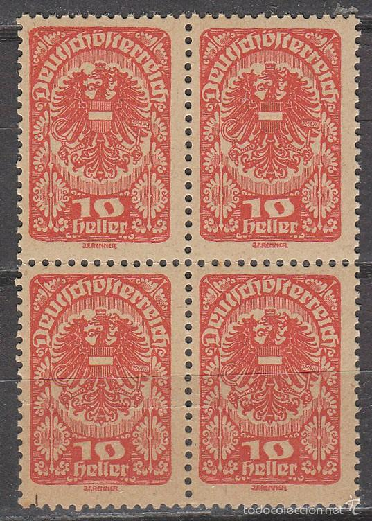 AUSTRIA IVERT 192 A, ESCUDO, NUEVO *** EN BLOQUE DE 4 (Sellos - Extranjero - Europa - Austria)