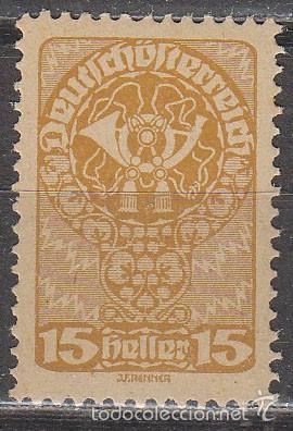 AUSTRIA IVERT 194, CUERNO DE CORREOS, NUEVO *** (PAPEL CARTÓN) (Sellos - Extranjero - Europa - Austria)