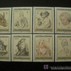 Sellos: AUSTRIA 1969 IVERT 1142/49 *** BICENTENARIO COLECCIÓN DE ARTE GRAFICO DE ALBERTINA - PINTURA. Lote 60579095