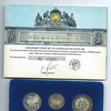 Sellos: AUSTRIA, 1965, EMISIÓN CONMEMORATIVA DE LA UNIVERSIADAD DE VIENA CON CERTIFICADO DE AUTENTICIDAD. Lote 69813038