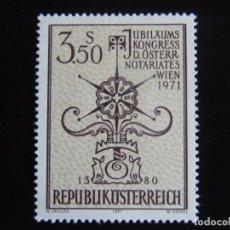 Sellos: AUSTRIA. SERIE COMPLETA. NUEVA MNH**. YVERT Nº 1188. 1971.. Lote 71402147