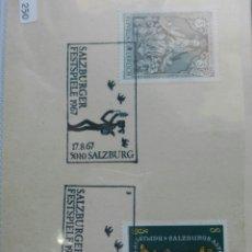 Sellos: AUSTRIA SALZBURG FL 1967. Lote 73624034