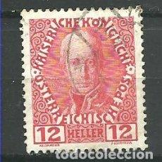 Sellos: YT 106 AUSTRIA 1908. Lote 115328328