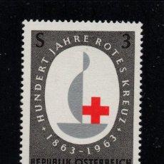 Sellos: AUSTRIA 973** - AÑO 1963 - CENTENARIO DE LA CRUZ ROJA INTERNACIONAL. Lote 228368483