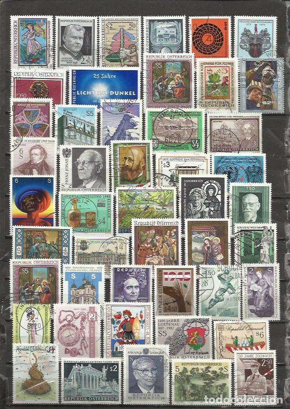 G185-LOTE SELLOS AUSTRIA SIN TASAR,ANTIGUOS,MODERNO,SIN TASAR,IMAGEN REAL,BONITOS.ALTO VALOR EN CONJ (Sellos - Extranjero - Europa - Austria)