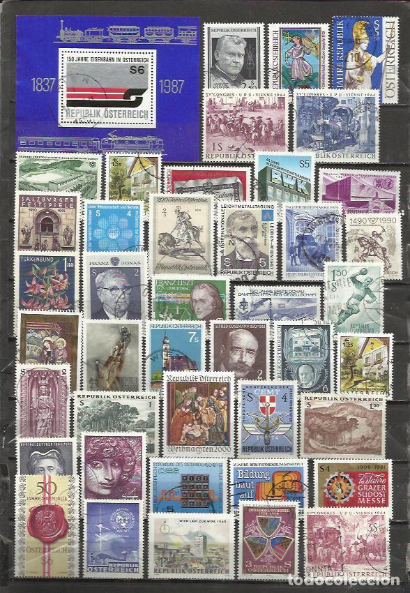 G186-LOTE SELLOS AUSTRIA SIN TASAR,ANTIGUOS,MODERNO,SIN TASAR,IMAGEN REAL,BONITOS.ALTO VALOR EN CONJ (Sellos - Extranjero - Europa - Austria)