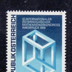 Sellos: AUSTRIA 1981 IVERT 1509 *** 10º CONGRESO AUSTRIACO INTERNACIONAL DE MATEMATICOS EN INNSBRUCK . Lote 90633505