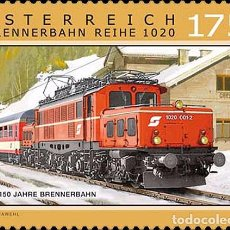Timbres: AUSTRIA 2017 - 150 YEARS OF THE BRENNER RAILWAY. Lote 127522300