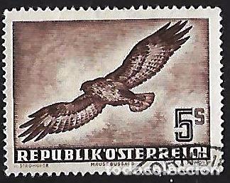 AUSTRIA 1950-1953. CORREO AÉREO AVES. USADO LIGERA DOBLEZ. YVERT A-58 (Sellos - Extranjero - Europa - Austria)