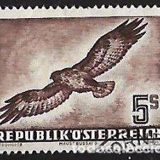 Sellos: AUSTRIA 1950-1953. CORREO AÉREO AVES. USADO LIGERA DOBLEZ. YVERT A-58. Lote 94876175