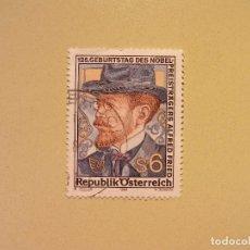 Sellos: AUSTRIA 1989 - ALFRED FRIED - PREMIO NOBEL DE LA PAZ. Lote 94886283