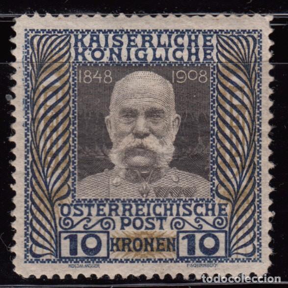 1908 - 1913 YVERT Nº 117 MH (Sellos - Extranjero - Europa - Austria)
