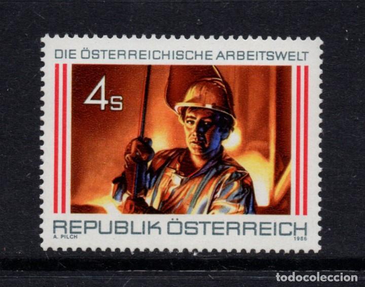 AUSTRIA 1701** - AÑO 1986 - EL TRABAJO EN AUSTRIA - METALURGIA (Sellos - Extranjero - Europa - Austria)
