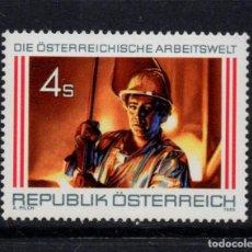Sellos: AUSTRIA 1701** - AÑO 1986 - EL TRABAJO EN AUSTRIA - METALURGIA. Lote 267419319
