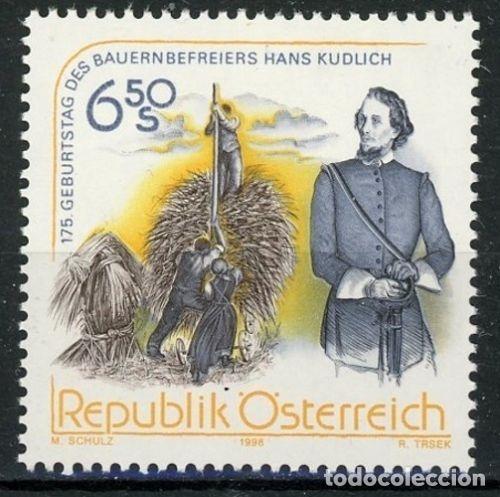 AUSTRIA 1998 IVERT 2095 *** 175º ANIVERSARIO DEL NACIMIENTO DEL LITERATO HANS KUDLICH (Sellos - Extranjero - Europa - Austria)