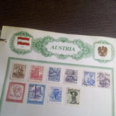 Sellos: AUSTRIA LOTE DE 10.SELLOS EN HOJA REIPER. Lote 98562759