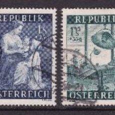 Sellos: AUSTRIA 1954 - SERIE COMPLETA MATASELLADA YVERT Nº 832/837. Lote 100209039