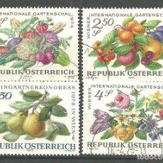 Sellos: YT 1223 Y 1275-77 AUSTRIA 1972. Lote 139833074